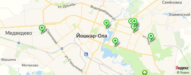 автостоянки на карте Йошкар-Олы
