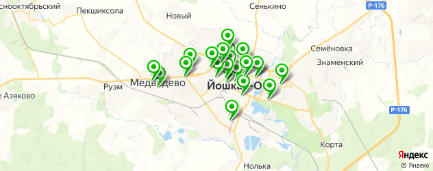 автошколы на карте Йошкар-Олы