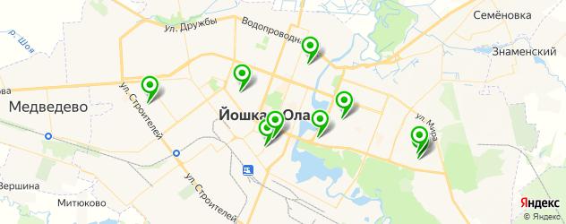 поликлиники на карте Йошкар-Олы