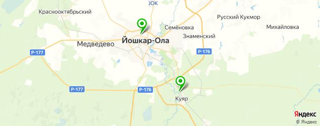 санатории на карте Йошкар-Олы