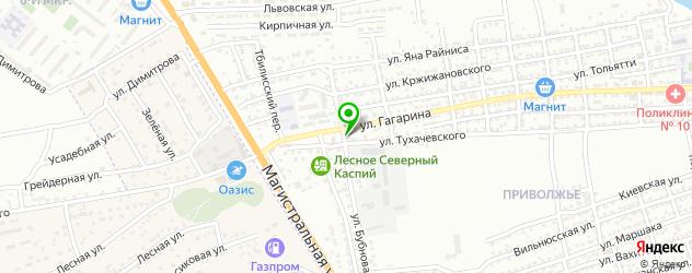 парковки на карте Астрахани
