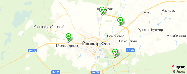 конные клубы на карте Йошкар-Олы