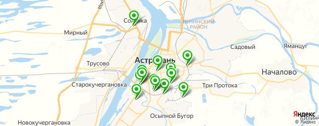 эвакуаторы на карте Астрахани