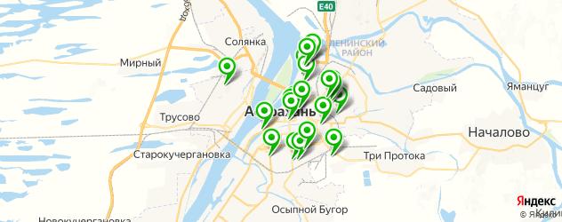студии загара на карте Астрахани
