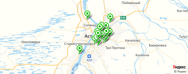 меховые ателье на карте Астрахани