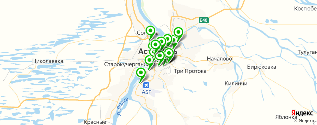 живая музыка на карте Астрахани