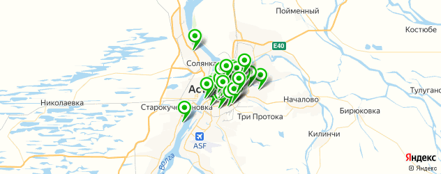 банкоматы с функцией приема наличных на карте Астрахани