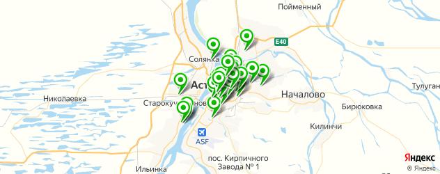 банкоматы на карте Астрахани