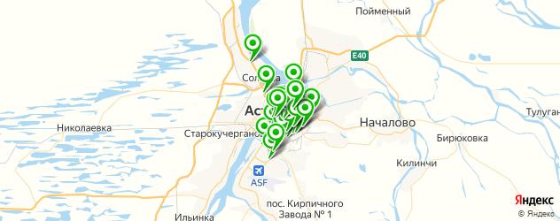 кафе с живой музыкой на карте Астрахани