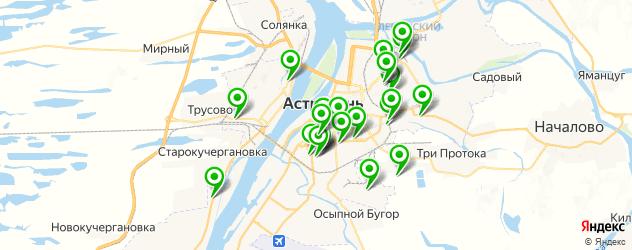 центры тонировки на карте Астрахани