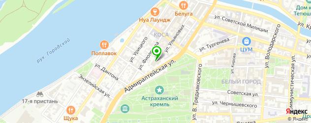 СПА отель на карте Астрахани