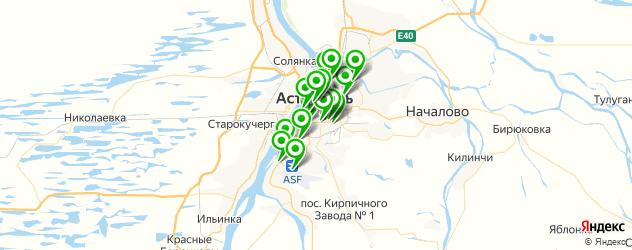 рестораны на карте Астрахани