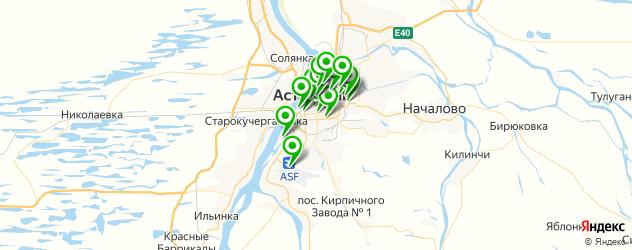 русские рестораны на карте Астрахани