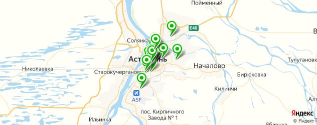 академии на карте Астрахани