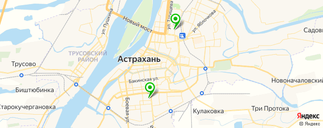 морги на карте Астрахани