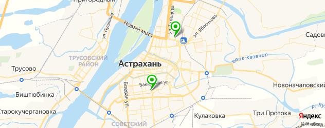 роддома на карте Астрахани