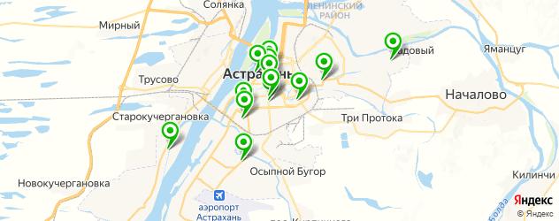 бары с танцполом на карте Астрахани