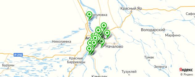 Спорт и фитнес на карте Астрахани