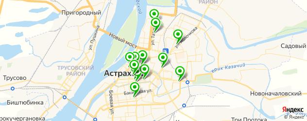 экскурсии на карте Астрахани