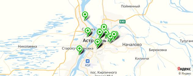 больницы на карте Астрахани