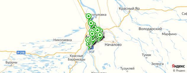 библиотеки на карте Астрахани
