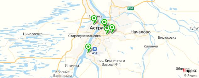 детские стоматологические поликлиники на карте Астрахани