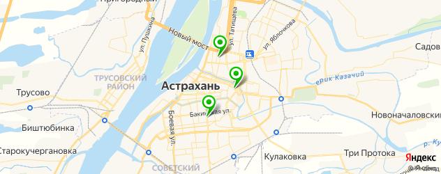 картинные галереи на карте Астрахани