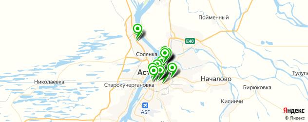 ВУЗы на карте Астрахани