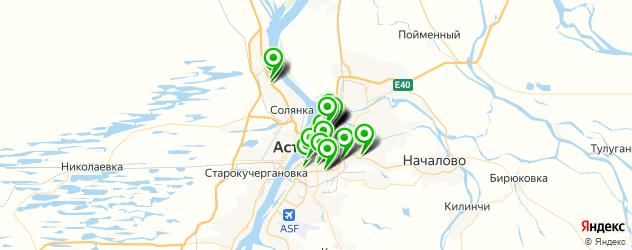 университеты на карте Астрахани