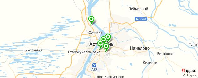 кинотеатры на карте Астрахани