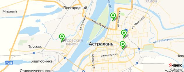 пекарни на карте Астрахани