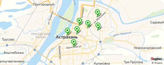 салоны бровей на карте Астрахани