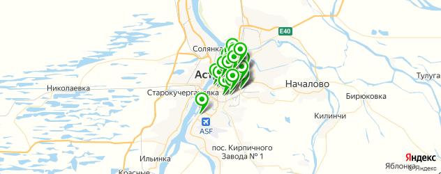 Красота на карте Астрахани