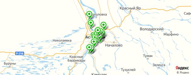 фитнес-клубы на карте Астрахани