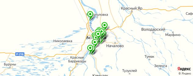 тренажерные залы на карте Астрахани