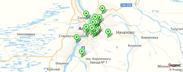 спортивные секции на карте Астрахани