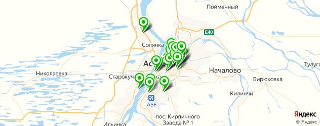 общежития на карте Астрахани