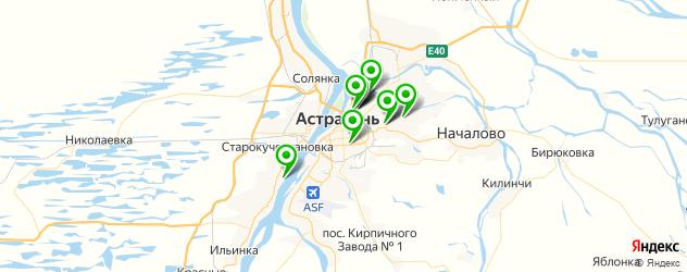 детские больницы на карте Астрахани