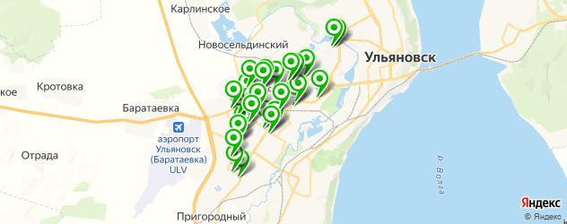 шиномонтажи на карте Засвияжского района