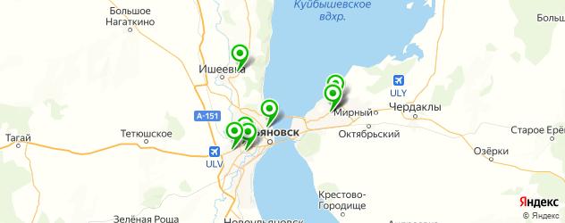 кафе для выпускного на карте Ульяновска