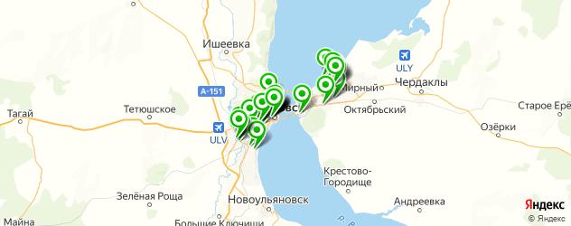 фасты фуд на карте Ульяновска