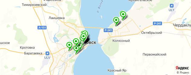 рестораны на карте Ульяновска