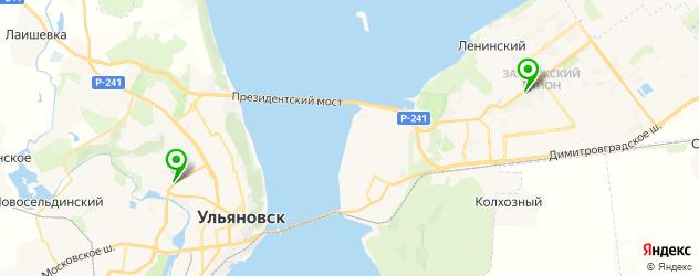автокредит на карте Ульяновска