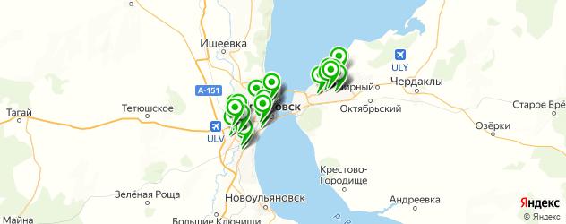 тонировка автомобиля на карте Ульяновска