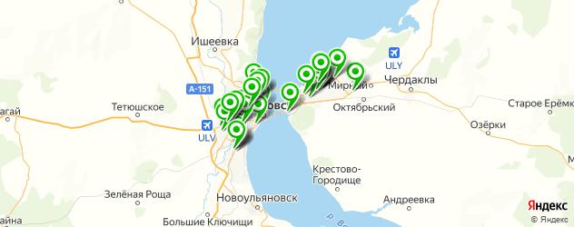 автомойки на карте Ульяновска