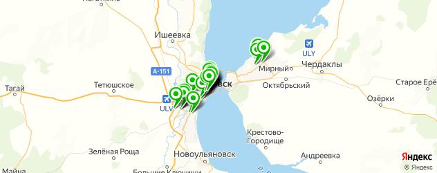 массаж ног на карте Ульяновска
