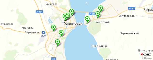 восстановление шипов на зимней резине на карте Ульяновска