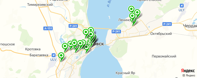 организация фуршетов на карте Ульяновска