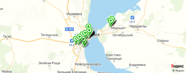 пиццерии на карте Ульяновска