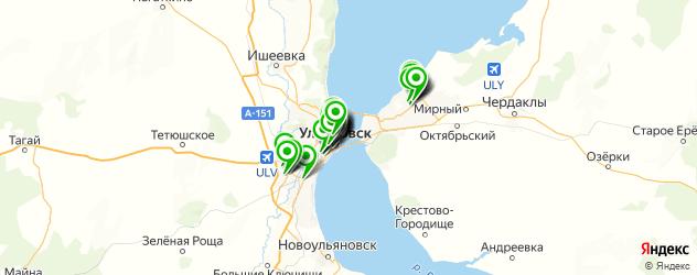салоны красоты на карте Ульяновска